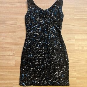Sequined Black dress Size XS